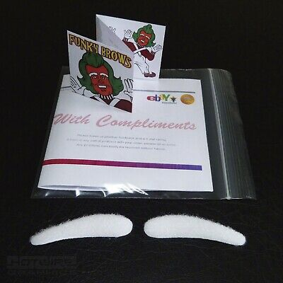 Fancy Dress WHITE Eyebrows Oompa Loompa, Umpa Lumpa Charlie & Chocolate Factory
