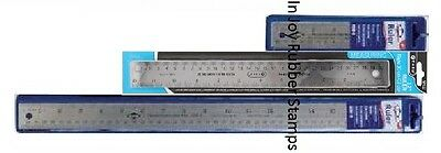"Cork Back Flexible Stainless Steel Metal Ruler Choices 36"", 24"", 18"", 12"", 6"""