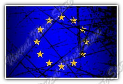 "European Union Europe Flag Grunge Car Bumper Window Vinyl Sticker Decal 5""X3.5"""