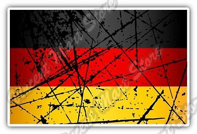 "Germany Country Flag Grunge Retro Car Bumper Window Vinyl Sticker Decal 5""X3.5"""
