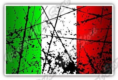"Italy Country Flag Grunge Retro Car Bumper Window Vinyl Sticker Decal 5""X3.5"""