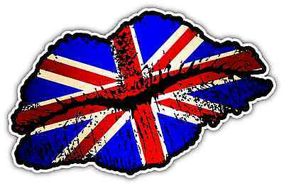 "United Kingdom England Lips Kiss Car Bumper Window Vinyl Sticker Decal 5""X3.5"""