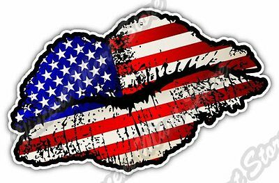 "United States USA Lips Kiss Flag Car Bumper Window Vinyl Sticker Decal 5""X3.5"""