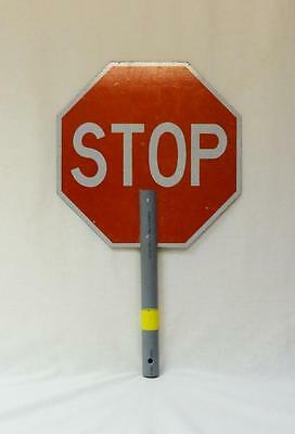 Amazing used crossing guard handheld school stop sign and yield sign!