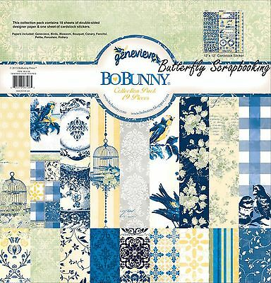 GENEVIEVE Collection Pack 12x12 Scrapbooking Kit BoBunny 18516106 New