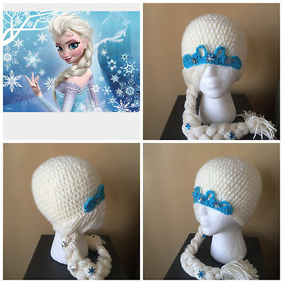 Disney Frozen Princess Elsa Beanie Hat Girls Child Kid Winter Warm Halloween