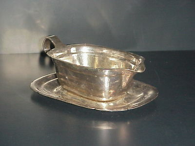 Reed Barton 5000 Mayflower Silver Plated Gravy Boat Underplate