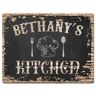 PP1715 KIMBERLY/'S KITCHEN Plate Chic Sign Home Room Kitchen Decor Birthday Gift
