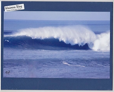 1969 DECEMBER 50 FOOT+ WAVE, WAIMEA BAY, HALEIWA, OAHU GICLEE ON 8x10 BLUE MATT