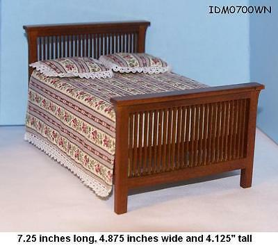 MISSION STYLE BED 1:12 SCALE DOLLHOUSE MINIATURES Heirloom Collection