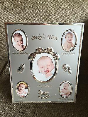 My First Thing Silver Frame Newborn Baby Gift