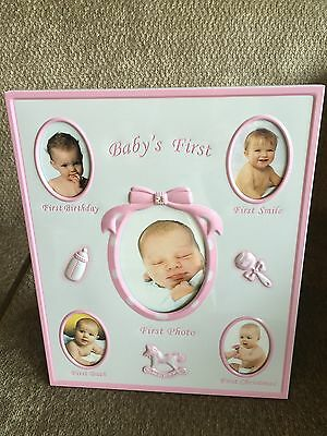 My First Thing Pink Frame Newborn Baby Gift