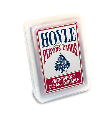 Hoyle Clear Playing Cards - Waterproof Clear Durable Deck of Cards