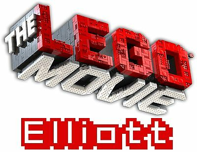 Personalized LEGO MOVIE LOGO Birthday Party Gift Present T Shirt with Name On T
