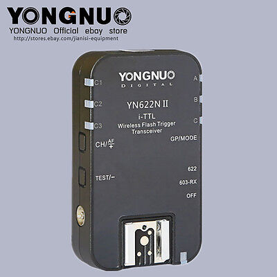 Yongnuo 1PCS YN-622N II 622NII TTL Wireless Flash Trigger HSS 1/800S for Nikon
