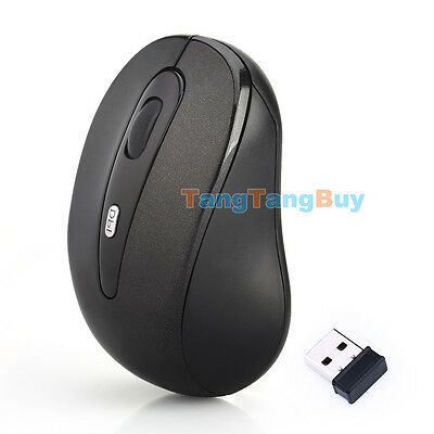 2.4 GHz Wireless Optical Mouse Mice + USB 2.0 Receiver for PC Laptop Black
