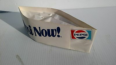 Pepsi Now ! Pepsi Paper Vendor Soda Jerk Hats - Lot of 2, NOS