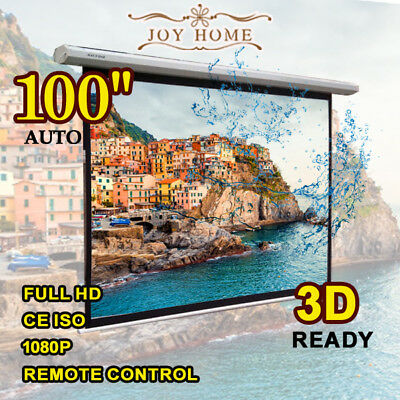 """100"""" inch Electric Remote Motorised Home Cinema Projector Screen Electric"""