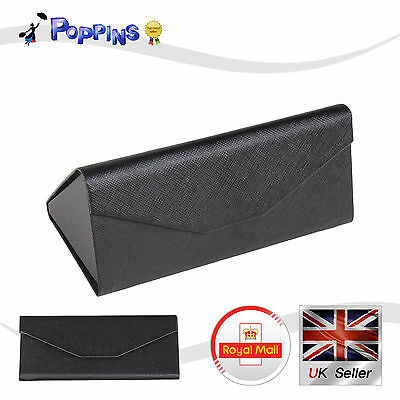 Foldable Triangular Magnetic Hard Case Box For Sunglasses Eye Glasses Spectacles