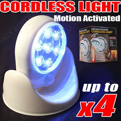 Pathway Stair Light Angel PIR Motion Activated Sensor Stick Up 7 LED Cordless AU