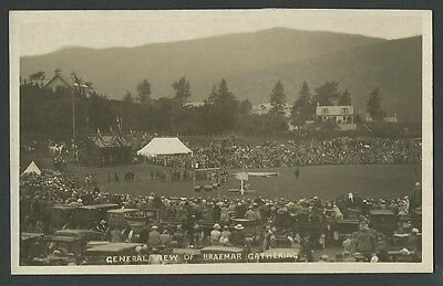 Braemar Aberdeenshire General View Of The Gathering Vintage Real Photo Postcard