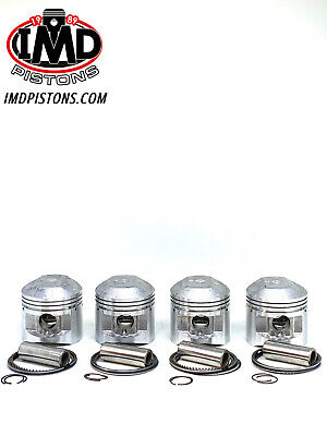 SUZUKI GS550 GS550E GS550L PISTON KITS (4) NEW +0.5mm OVERSIZE = 56.5mm