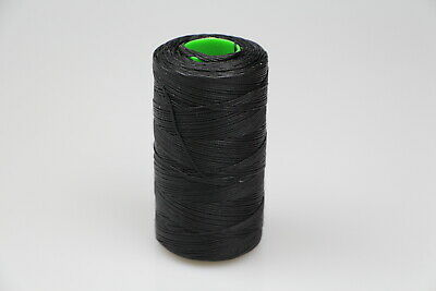 MOX waxed polyester sewing thread black 1.0mm 400mt spool horse rug leather work