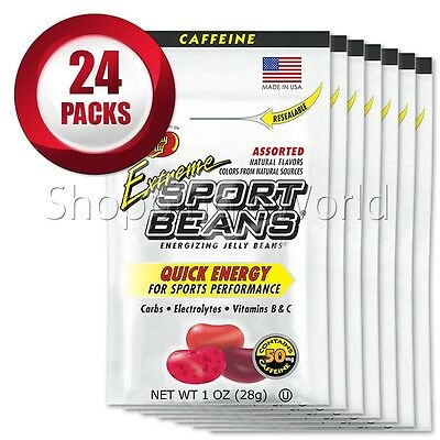 EXTREME ASSORTED Energizing SPORT BEANS ~ Jelly Belly 24 Packs Guaranteed Fresh