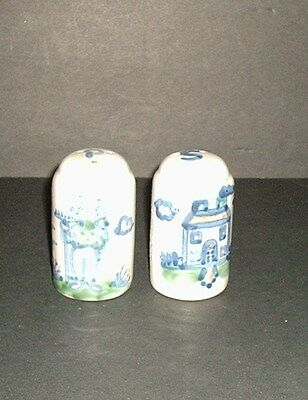 M A Hadley Country Scene Salt And Pepper Shakers