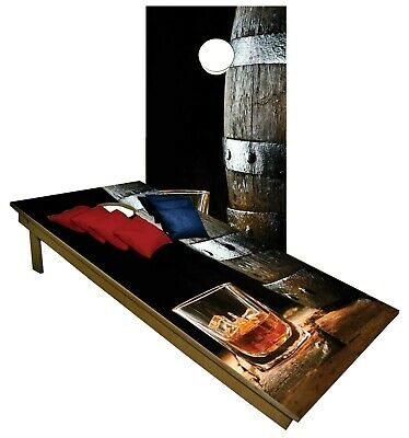 Whisky Drink Alcohol CORNHOLE BEANBAG TOSS GAME w Bags Game Boards Set 850
