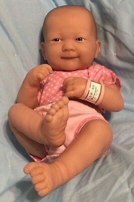 Berenguer La Newborn Baby Doll Girl in Pink ID Wrist Band Simply Adorable