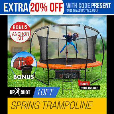 NEW 10ft Round Trampoline FREE Basketball Set+Safety Net+Spring Pad Cover+Ladder