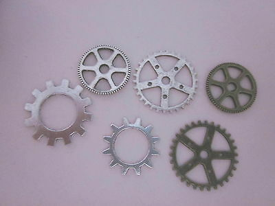 60 COGS -silver - bronze for jewellry making / media art - S/ 4
