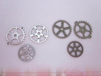 60 COGS -silver - bronze for jewellry making / media art - S/2