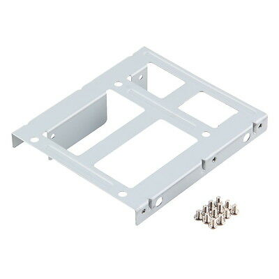 """2.5"""" SSD HDD Hard Drive to 3.5 inch Solid Steel Bay/Tray Mounting Bracket JL"""