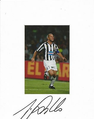 A 10 x 8 inch mount personally signed by Gialuca Pessotto of Juventus.