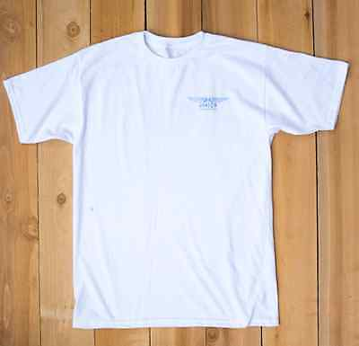SURFING - Mike Hynson Surfboards - White T-Shirt & Blue Logos *NEW*