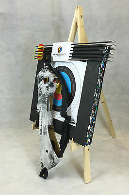 """ASD Typhoon Archery Package Youth Black Compound Bow Fully Adj 23-28"""" 21-29Lb"""