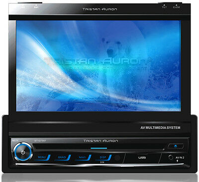 "7"" Bildschirm AUTORADIO mit Bluetooth Navigation GPS DVD USB MP3 CD 1 DIN"
