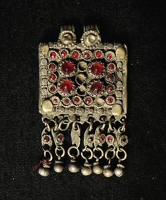 Late 19th C.  Antique  Afghan Tribal  Pendant,  Ethnic Belly  Dancer Jewelry