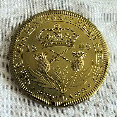 SCOTLAND GEORGE III 1808 GOLDEN ALLOY PROOF PATTERN CROWN - coa