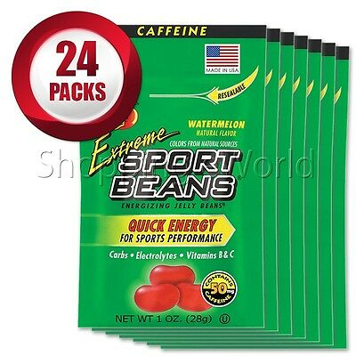 EXTREME WATERMELON Energizing SPORT BEANS ~ Jelly Belly ~ 24 Packs ~ Fresh