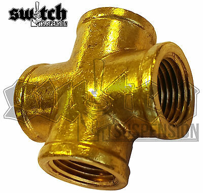 Brass Pipe Fitting 1/2 NPT Female Cross 4 Way Equal Forged Connector Coupling