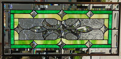 Stained Glass Window Hanging 26 X 12""