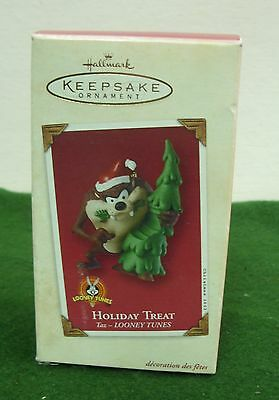 Ornament Hallmark Keepsake Looney Tunes Holiday Treat Taz 2002
