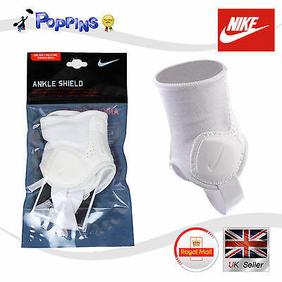 New Genuine Nike Ankle Shields SP0236-111 Ankle Guards ONE SIZE Adult White