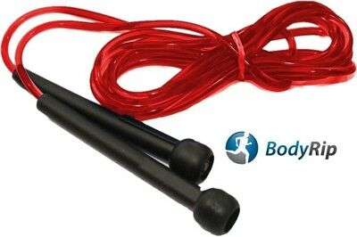 BodyRip Red Boxing Gym Exercise Workout Fitness Nylon Jumping Skipping Rope