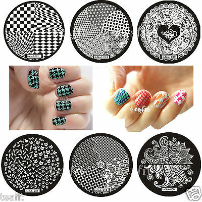 2017 New Image Stamping Plates Stamp Template Nail Art DIY Design Hehe