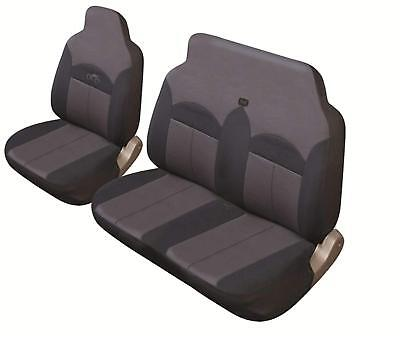 Heavy Duty Single And Double Front Van Black & Grey Soft Padded Seat Covers