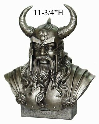 Odin Bust Statue Ruler of Asgard Viking Alfather Chief God Norse Mythology